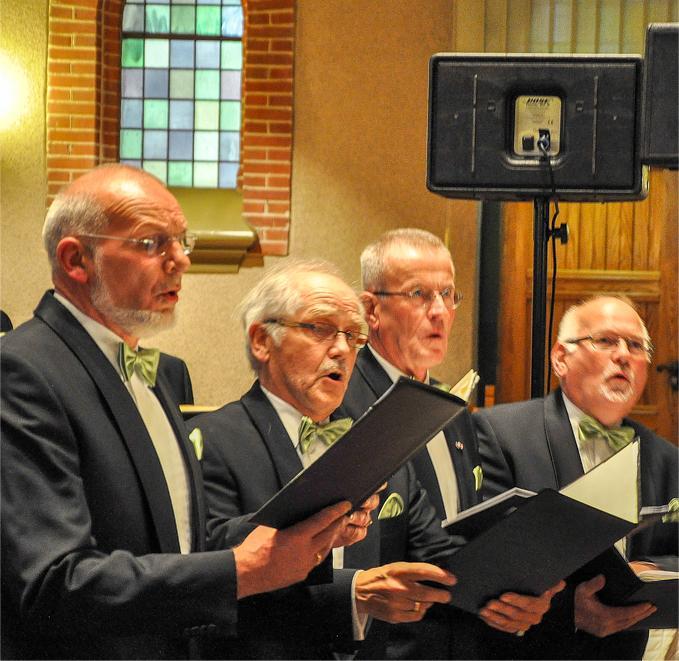 Optreden Mannen koor kwartet 12-07-2012